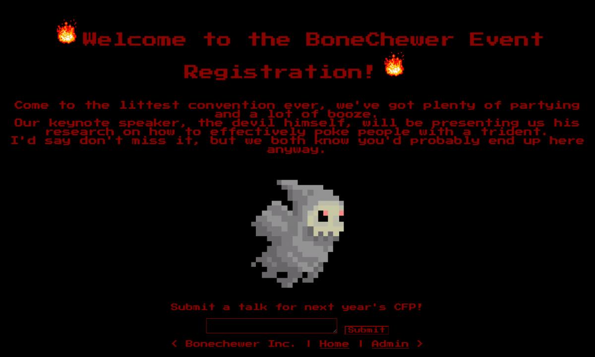 BoneChewerCon index page